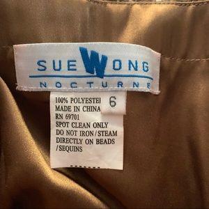 Sue Wong Dresses - Sue Wong designer strapless cocktail dress